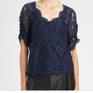 Joie Nevina Lace Top - XS